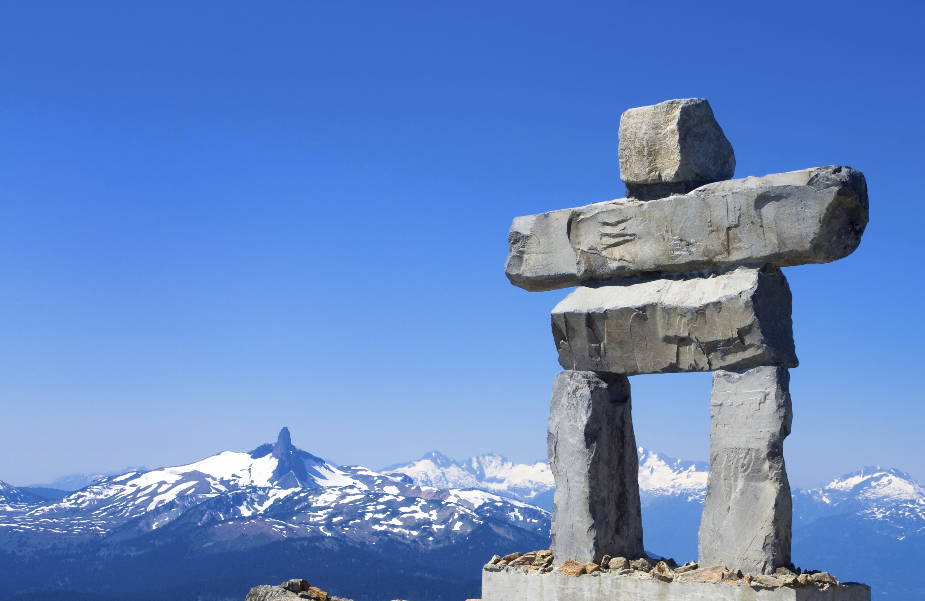 The other two Whistler Mountains don't have giant Inuit inukshuks ...