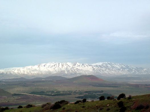 Mount Hermon seen from the Golan Heights